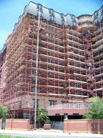 High Rise Retirement Facility under repair